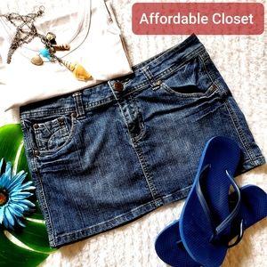 ● jean mini skirt ●